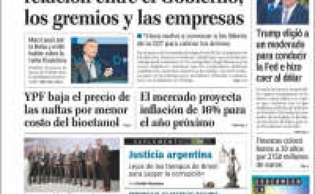Newspaper El Cronista Comercial Argentina Newspapers In