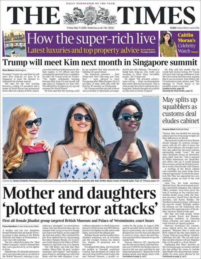 Portada de The Times (United Kingdom)