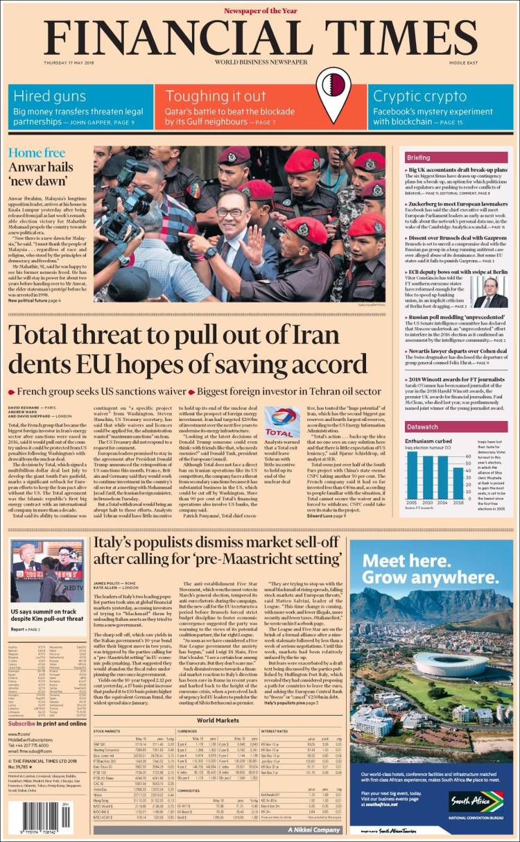 Portada de Financial Times - USA (USA)