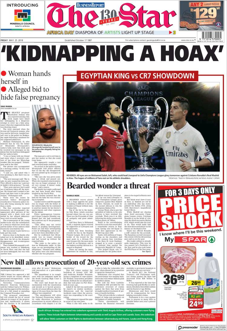 Portada de The Star (South Africa)