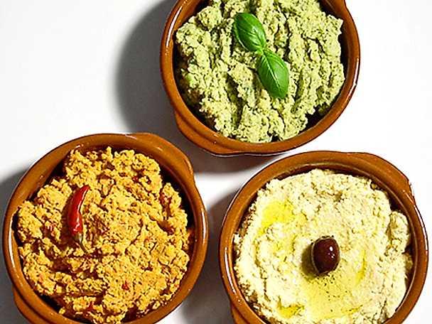 Hummus med tre smaker | Recept från Köket.se