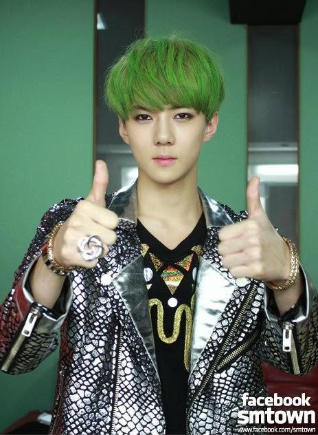 綠色頭 髮最好看的14位KPOP IDOL - kpopdata.com 韓星資料庫