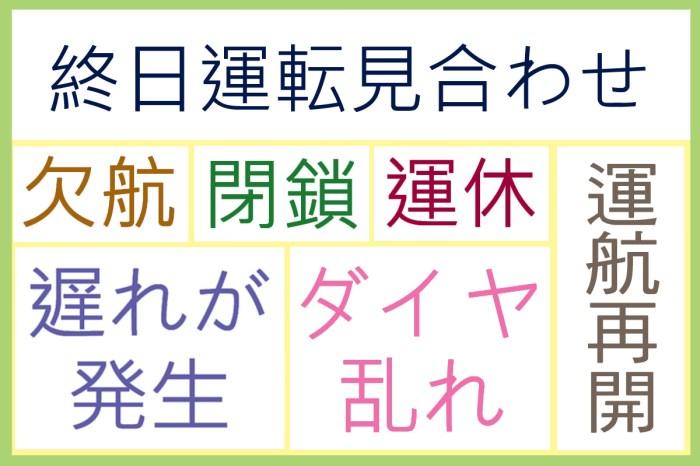 觀光日語   │  看懂非常時期的日本交通機構標示用語   │  交通篇(3)