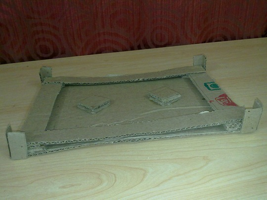 Laptop Stand Made of Cardboard