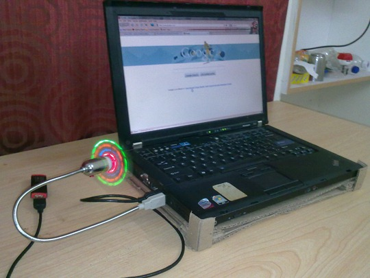 Laptop Cooling Pad - Side View