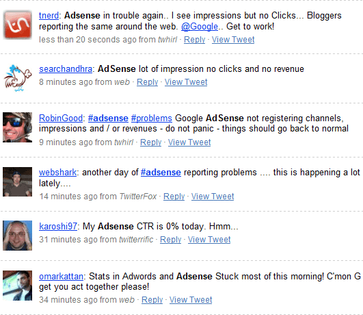 adsense on twitter