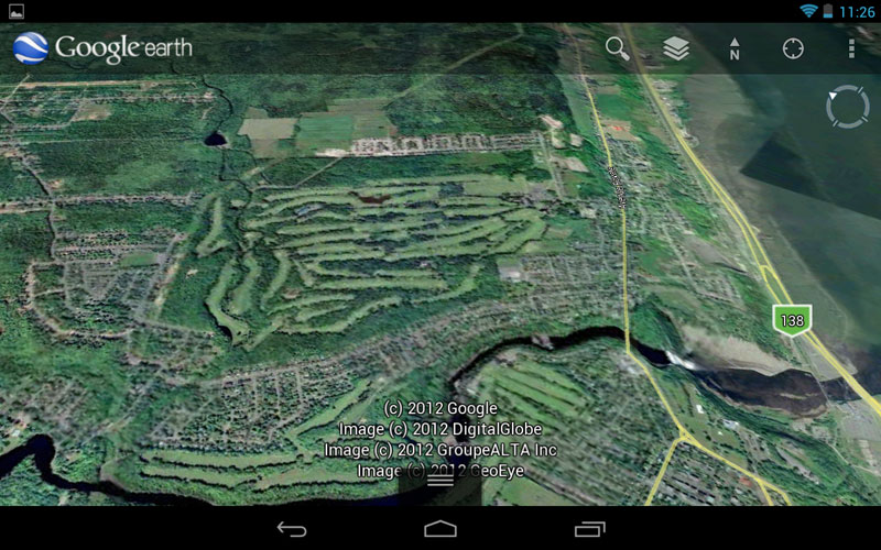 This screenshot of Google Earth was captured with Android