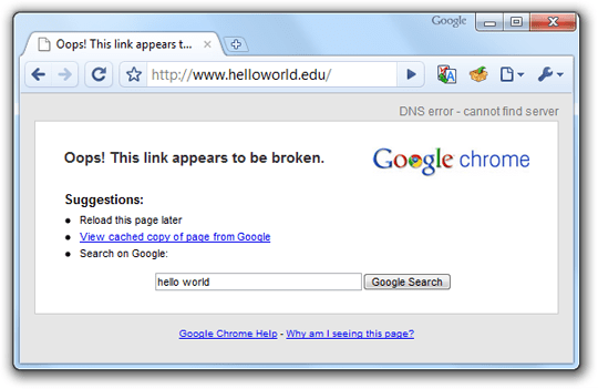 DNS Errors in Google Chrome