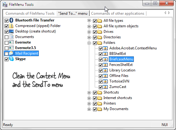 clean context menu