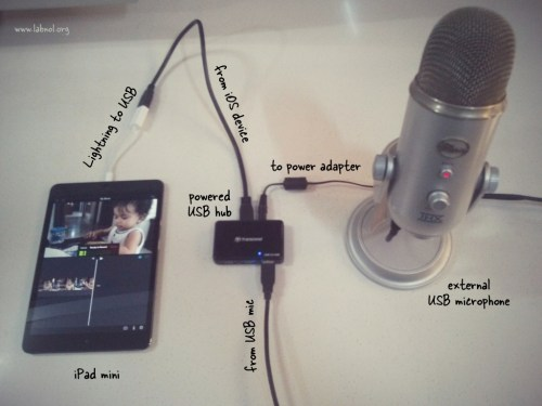 small resolution of connect microphone to ios device