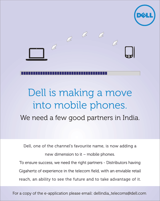 Ad for Dell Mobile Phones