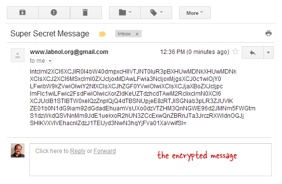 Encrypted Message in Gmail