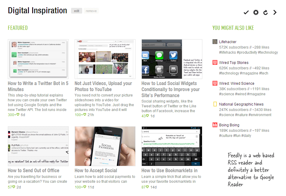 Google Reder Alternative - Feedly