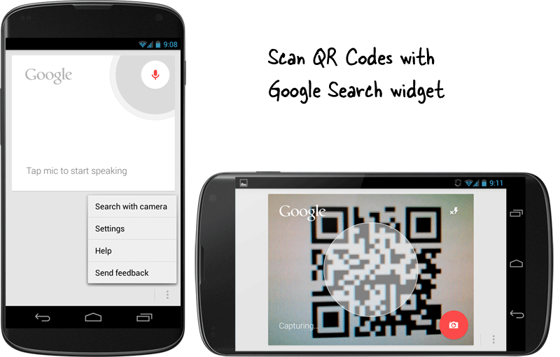 Scan QR Codes with Google