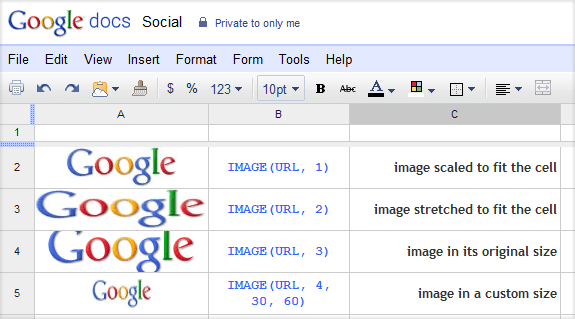 How to Add Images to your Google Spreadsheet Cells