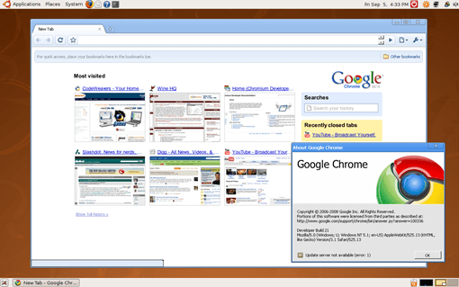 screenshot - google chrome for linux