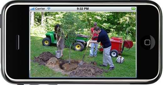iphone to plant trees
