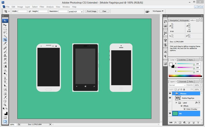 Mobile Screenshots in Photoshop