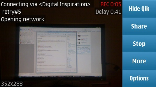 qik live streaming on nokia