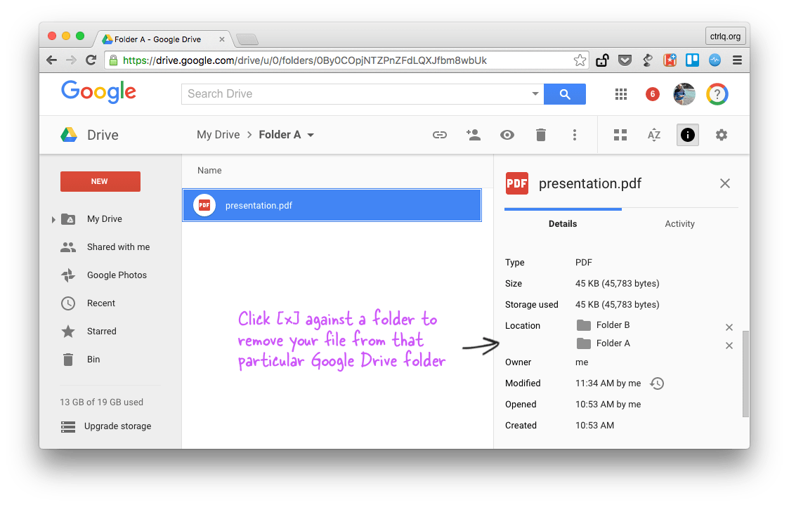 how to make a folder on google drive