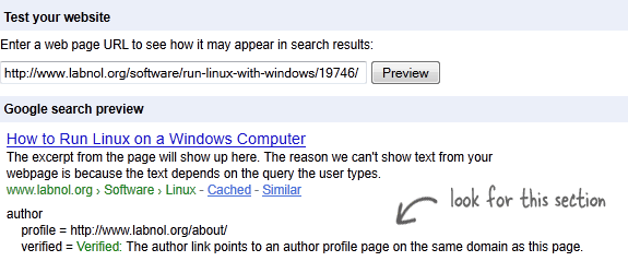 rich snippets for author
