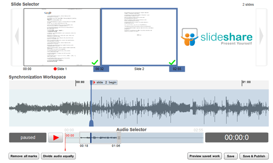 slideshare audio synchronization
