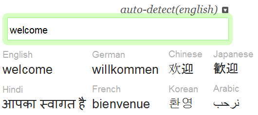 translate words in multiple language