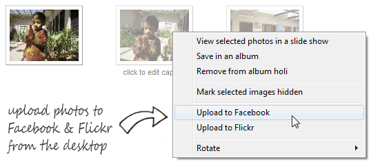 upload pictures to facebook