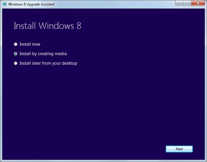 Windows 8 Installation Options