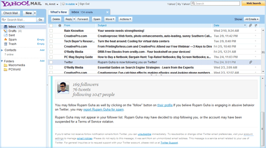 Reading Pane for Email Preview
