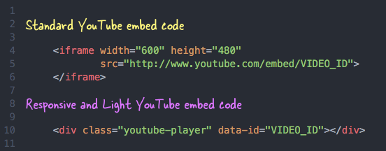 YouTube Embed Code