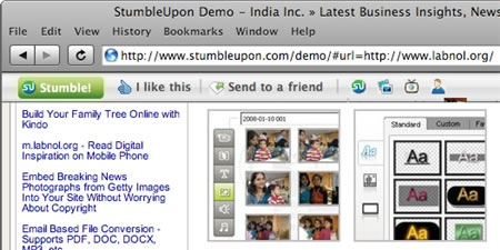 stumbleupon safari toolbar
