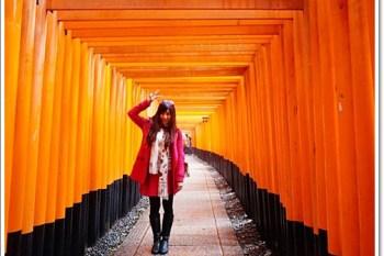 京都賞櫻 》伏見稻荷神社。值得一生至少來一次的千本鳥居,櫻花點綴的橘與狐狸,神聖又迷人♥