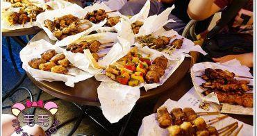 台中逢甲夜市 》激旨燒鳥。二訪~串燒吃爽爽,最愛麻糬豬肉♥還有沙拉、茶泡飯新餐點