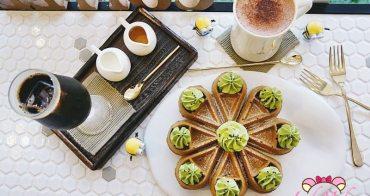 民生社區咖啡廳》4MANO CAFFÉ民生店,芝麻抹茶麻糬鬆餅神好吃