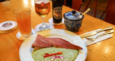 德國法蘭克福美食Zum Gemalten Haus|德國竟然也有神好吃的牛舌!跟著在地人喝啤酒吃德式香腸