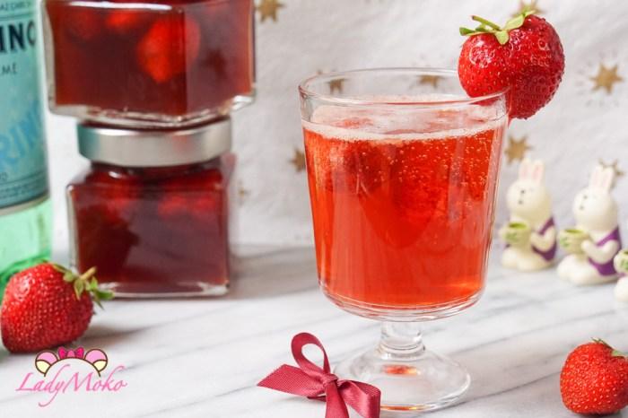 自製法式草莓醋 夏季氣泡飲食譜推薦, 使用法國Maille紅酒醋製作/San Pellegrino氣泡水心得分享