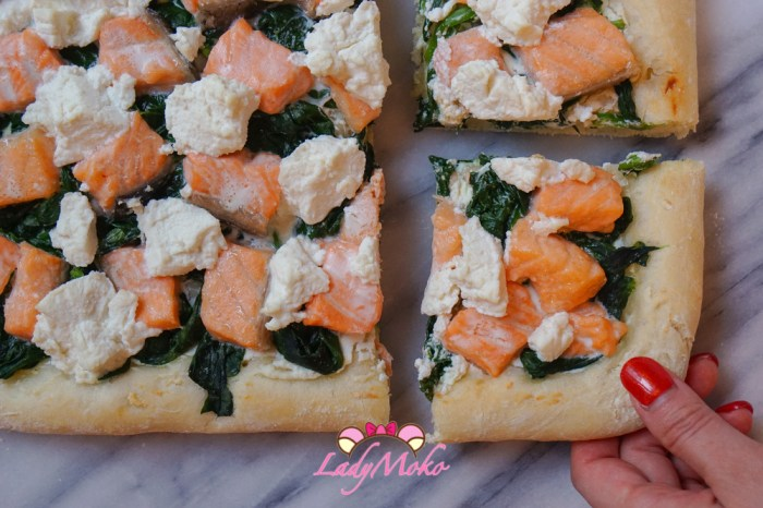 軟Q厚披薩食譜大推薦|鮭魚菠菜瑞可塔起司披薩食譜|Salmon Spinach Ricotta Cheese Pizza