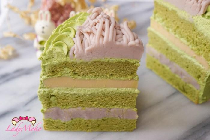 芋泥布丁抹茶蛋糕食譜|布丁夾餡食譜+抹茶戚風蛋糕食譜