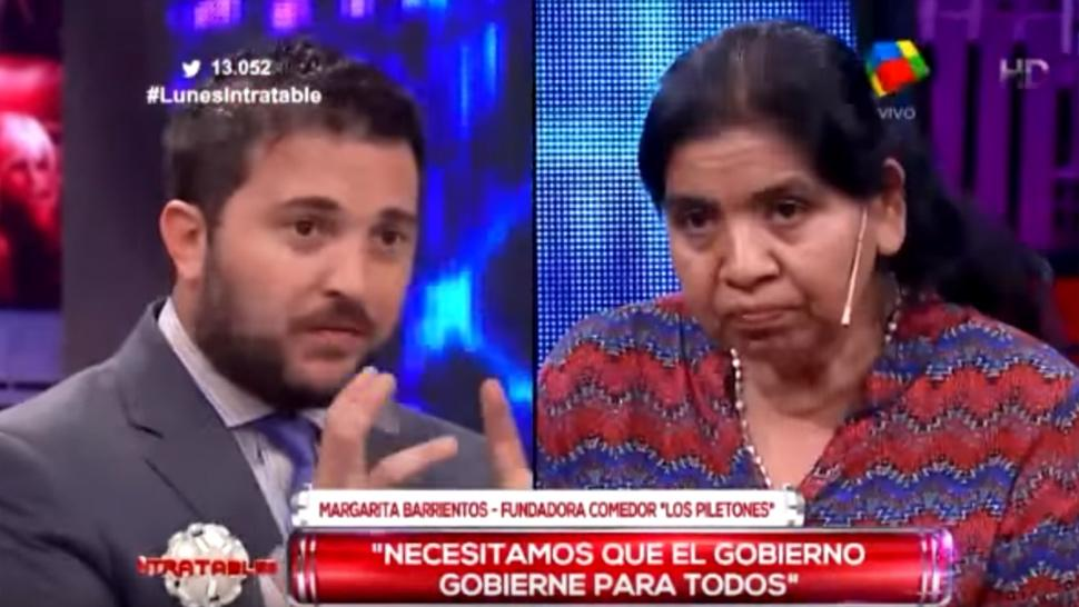 Diego Brancatelli increp a Margarita Barrientos en