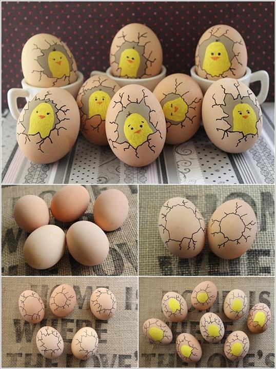 طريقة تلوين بيض شم النسيم بالألوان الخشب لهلوبه