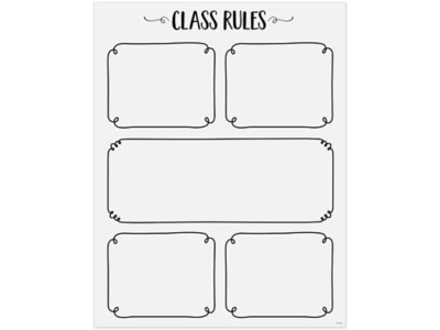 Black & White Classroom Rules Poster at Lakeshore Learning