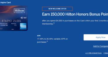 美國信用卡 如何申請美版美國運通Hilton Aspire信用卡(150K開卡禮)