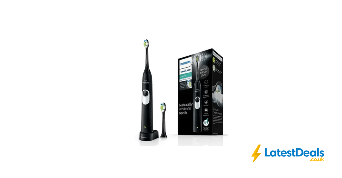 Philips Sonicare 2 Series Electric Toothbrush, Black, £34