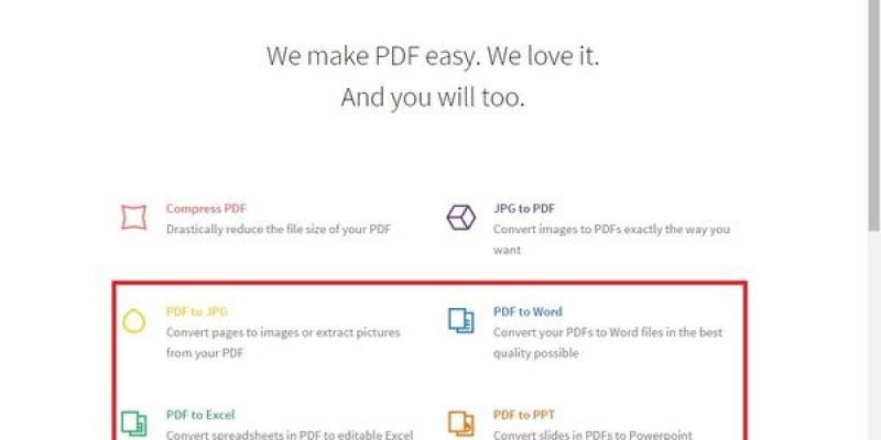 【實用】免費線上PDF轉換器,合併PDF檔,PDF轉word、excel、PPT、JPG...