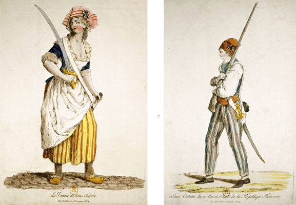 Le peuple sans-culotte (The Sans-Culotte People) (c. 1792) [Source]. The French Revolution ... & Menu0027s Fashion During and After the French Revolution (1790-1810 ...