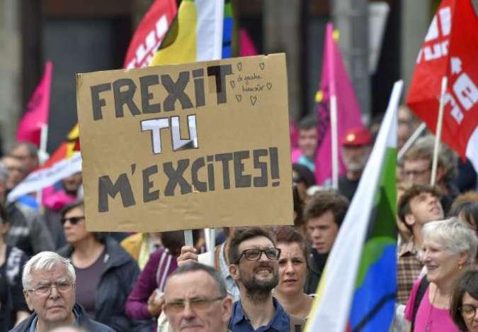 Un manifestant pro-Frexit à Nantes, le 28 juin 2016.