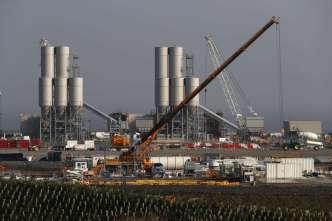 Le chantier de la centrale nucléaire d'Hinkley Point C, dans le sud-ouest de l'Angleterre, en septembre 2016.