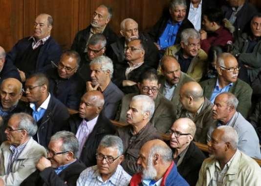 Lors du procès des «chibanis» contre la SNCF, en mai 2017 à la cour d'appel de Paris.
