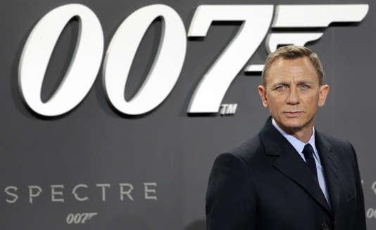 """Daniel Craig, em 2015, com o lançamento do """"Spectrum"""", o mais recente James Bond datado."""